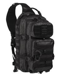Duży plecak taktyczny z jednym paskiem w kolorze czarnym