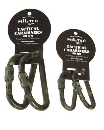 Karabinek Aluminiowy - Lock - 80 mm - Mil-Tec